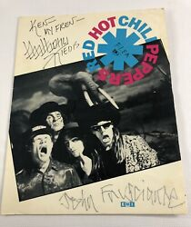 Red Hot Chili Peppers Sign Mothers Milk Poster Anthony Kiedis Flea Frusciante