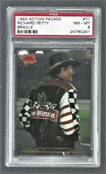 1993 Action Packed Braille Richard Petty Nascar Racing 71 Psa 8 24790241
