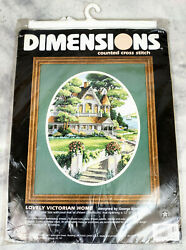 Dimensions Lovely Victorian Home 3874 Cross-stitch Kit New