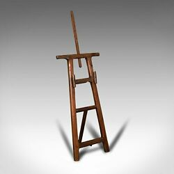 Antique Artistand039s Easel English Picture Stand Arts And Crafts Victorian 1900