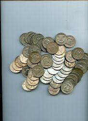 3 Rolls Of 90 Silver Franklin Half Dollar Coins In Coin Tube