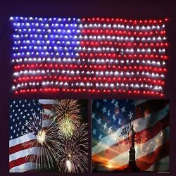 Awesome American Flag Lights,waterproof American Flag Christmas Lights For 4t...