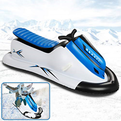 Inflatable Snowmobile Snow Sled, Kids And Adults Heavy-duty Giant Snow Tube For