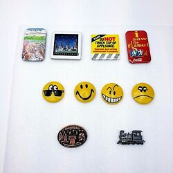 Lot Of 10 Refrigerator Magnets, Assorted
