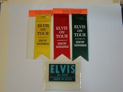 Elvis 1970s On Tour Pass And Ribbons Jim Curtin 2006 Empire Collection