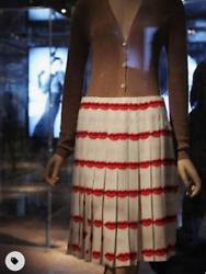 Rare Prada Sold Out Iconic Lip Print Skirt As Seen In Museum