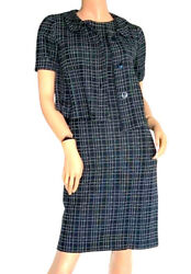 Dior Jackie O Checkered Navy Checkered Dress Suit Retail £2,100