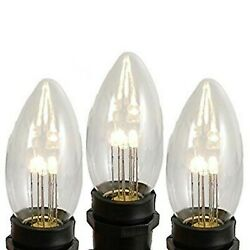 Novelty Lights 25 Pack C9 Led Outdoor Christmas Glass Replacement Bulbs, Warm...
