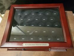 Obama Coin Collector Wooden Display Case Pcs Coins With Drawer