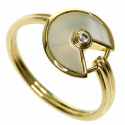 Auth Ring Amulet Eu56 Us7 1/2 K18 Yg Yellow Gold F/s