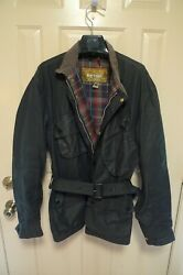 Barbour- A7 International Waxed Cotton Jacket- One Crest Label - Made @ Uk-46