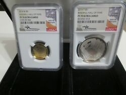 2014 W Gold And Silver Baseball Hall Of Fame 2 Piece Set Ngc Pf70ucam Mercanti