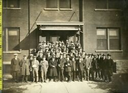 Vintage 1920and039s Oversized Photo / Union Carbide Company Staff - Indianapolis In