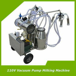 110v Milking Machine Cows Goats Vacuum Pump Electric Stainless Steel Farm Tool