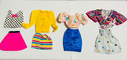 """60's 80's Inspired Doll Dress- Handmade Clothes For Doll 8"""" - 10"""" Size Very Rare"""
