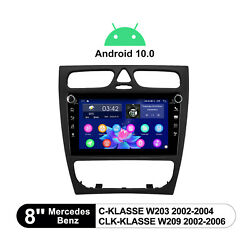 8 Inch Android 10 Single Din Ips Screen Built-in Dsp Navigation 4+64g For Benz