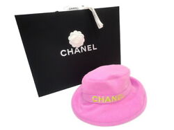 AUTH CHANEL BUCKET HAT 100% COTTON PINK SIZE:M L:58CM 2021SS COCO MARK F S $1529.97