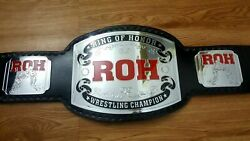 Ring Of Honor Wrestling Championship Leather Replica Belt Thick Plate Adult Size