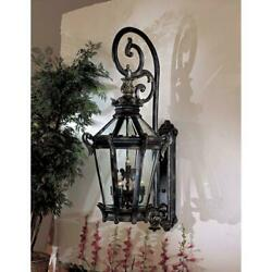 Stratford Hall 9-light Heritage Outdoor Wall Lantern Sconce With Gold Highlights