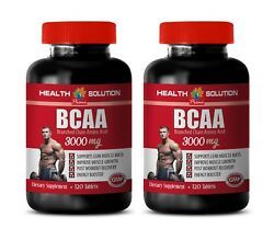 Workout Supplement - Bcaa 3000mg 2 Bottles - Pre And Post Workout Recovery