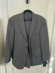 Pre-owned Gray Lineal Juomo 40r Suit With 34x32 Pants