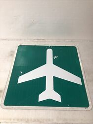 Texas Repurposed Airport Ahead Airplane Highway Sign 24andrdquo