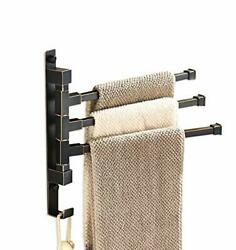 Oil Rubbed Bronze Swing Out Towel Rack For Bathroom Holder Wall Mounted Towel