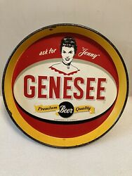 Genesee Brewing Beer Tray. Ask For Jenny. Rochester, New York