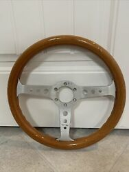 Sport Line 350 Mm Wood Aluminum Steering Wheel Made In Italy. Similar To Momo.