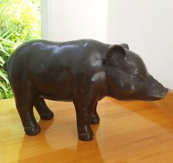 Piglet Animal Hand Crafted Bronze Life-size Ornament Stature Decor Item
