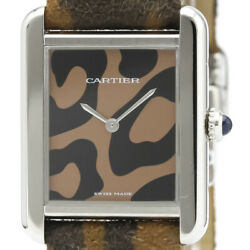 Polished Tank Solo Panthere Steel Quartz Unisex Watch W5200016 Bf502840