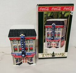 Eckerd Coca-cola Town Square Collection Christmas Village House Lights Up 1999