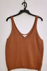 Nordstrom BP Brown Amber Sweater Tank L NWT $12.99