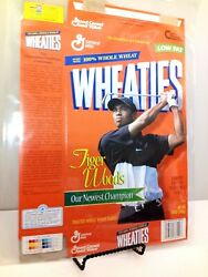 2 General Mills Tiger Woods Limited Edition Vintage Empty Cereal Boxes 12 Oz.