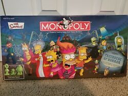 2005 The Simpsons Treehouse Of Horror Collectors Edition Monopoly Board Game