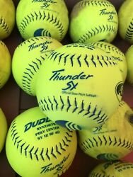 Usssa Slow Pitch Softballs Assorted Lot Of 42 Used - Dudley Trump Worth