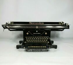 Antique Vintage Mercedes Typewriter 31 Wide Carriage 1920s Local Pickup Only