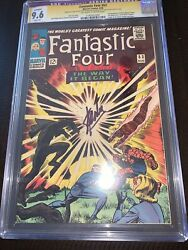 Fantastic Four 53 Cgc Ss 9.6 White Stan Lee 2nd Black Panther 1st Klaw Restored