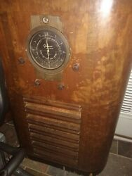 Antique Grunow 835 Console Radio 1930and039s Floor Model In Wooden Case 1936 Working