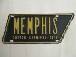 1954 Memphis Tennessee Booster License Plate Tag Cotton Carnival