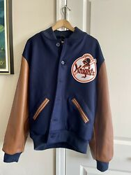 """Ebbets Fields Flannels """"the Natural"""" Ny Knights Jacket Unworn L"""