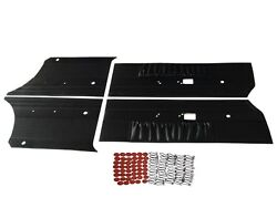 Pg Classic 7507-100 Mopar 1969 Dodge Charger R/t Front And Rear Door Panel Black