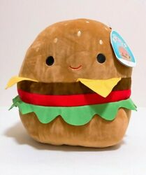 Kellytoy Squishmallow 2021 Foods 12 Carl The Cheeseburger Plush Doll Toy