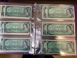 Bank Of Canada 1867-1967 Plate And Prefixes Replacement Notes In Binder