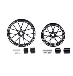 21 Front 18'' Rear Wheel Rim And Hub Fit For Harley Touring Electra Glide 2008-21