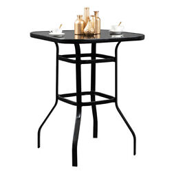 Cool High Bar Table Patio Outdoor Furniture Bistro Table Dining Pool Bbq