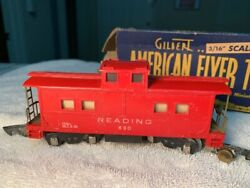 Gilbert American Flyer 1946 Caboose Reading 630 With Original Box Untested