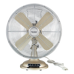 Better Homes And Gardens Retro Table Fan, Nickel, 12-inches Household