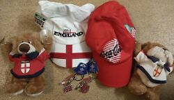 Rugby World Cup Caps Car Mascots And Keyrings Bundle. Used. Pa469