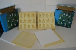 Set Of 24 Vintage Spun Glass Clear Christmas Ornaments W/box Angel Bell Tree